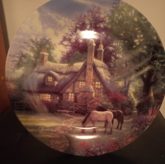 Thomas Kinkade plate. 'A Perfect Summer Day'